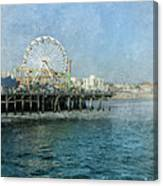 Ferris Wheel On The Santa Monica Pier Canvas Print