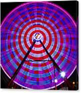 Ferris Wheel Purple Canvas Print
