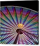 Ferris Wheel Rainbow Canvas Print