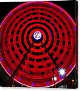 Ferris Wheel Red Canvas Print