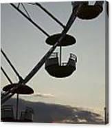 Ferris Wheel Silhouette Canvas Print