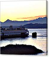 Ferry In Edmonds Canvas Print