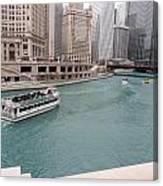 Ferry Through Chicago Canvas Print