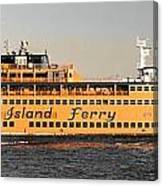 Ferry Time Canvas Print