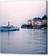 Ferry To Bellagio On Lake Como Canvas Print