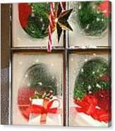 Festive Holiday Window Canvas Print