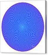 Fibonacci Figure With White Elements On Blue Canvas Print