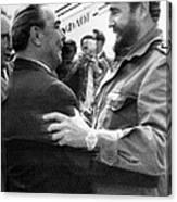 Fidel Castro Canvas Print