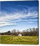 Field And Sky Canvas Print