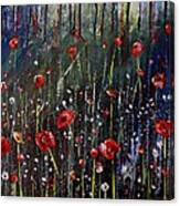 Field Of Poppies Canvas Print