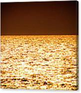 Fiery Sunset Over The Sea Canvas Print