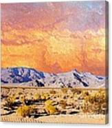 Fiery Western Sky Antarres Road Az Canvas Print