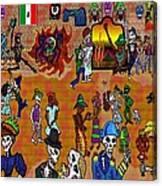 Fiesta Del Dia De Los Muertos Canvas Print