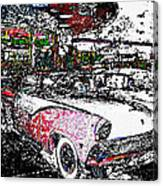 Fifties Drive In Canvas Print