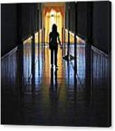 Figure In The Corridor Canvas Print