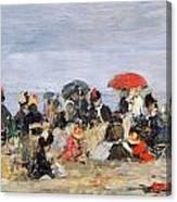 Figures On A Beach Canvas Print