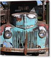 Filling Up The Old Ford Jalopy At The Associated Gasoline Station . Nostalgia . 7d12885 Canvas Print
