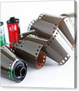 Film And Canisters Canvas Print