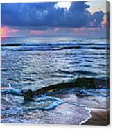 Final Sunrise - Beached Boat On The Outer Banks Canvas Print