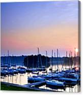 Fine Sailing Morning Coming Up Canvas Print