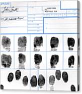 Fingerprint Identification Application Canvas Print
