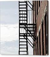 Fire Escape In Boston Canvas Print