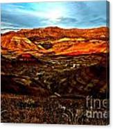 Fire In The Painted Hills Canvas Print