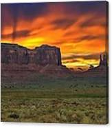 Fire In The Sky Over The Valley Canvas Print