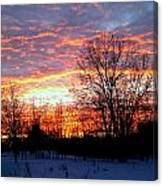 Fire On Ice Canvas Print