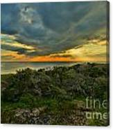 Fire Over The Outer Banks Canvas Print