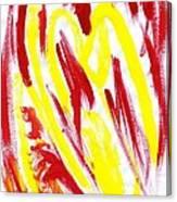 Fire Runner Canvas Print