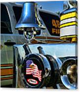 Fire Truck Bell Canvas Print