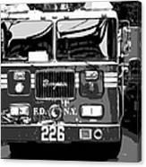 Fire Truck Bw6 Canvas Print