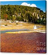Firehole Lake Canvas Print