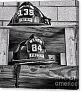 Fireman - Fire Helmets Canvas Print