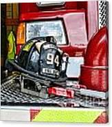 Fireman - Helmet Canvas Print