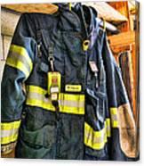Fireman - Saftey Jacket Canvas Print