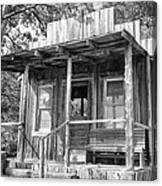 Fireman Cottage B And W Canvas Print
