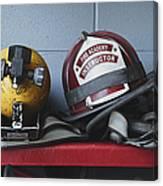 Fireman Helmets And Gear Canvas Print