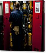 Fireman Stows A Self-contained Canvas Print