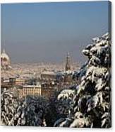 Firenze Under The Snow Canvas Print