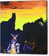 Fireside Hypnotism Canvas Print