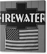 Firewater In Black And White Canvas Print
