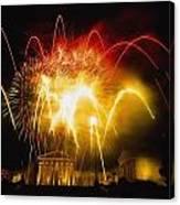 Fireworks At Philadelphia Museum Of Art Canvas Print