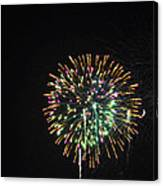 Fireworks With Moon IIi Fm3p Canvas Print