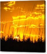 Firey Sunset Canvas Print