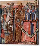 First Crusade Germ Warfare Siege Canvas Print