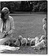 First Lady Betty Ford And The Familys Canvas Print
