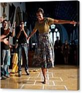 First Lady Michelle Obama Plays Canvas Print