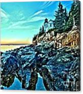 First Light At Bass Harbor Canvas Print